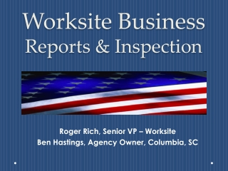 Worksite Business Reports & Inspection