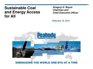 Sustainable Coal  and Energy Access for All