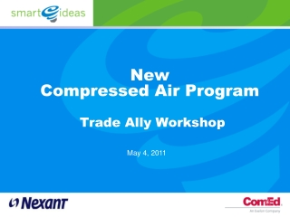 New  Compressed Air Program Trade Ally Workshop