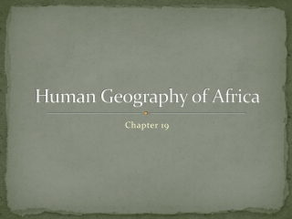 Human Geography of Africa