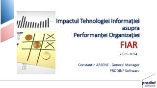 Impactul Tehnologiei Informa ției asupra Performanței Organizației