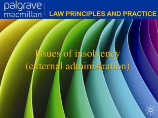 Issues of insolvency (external administration)