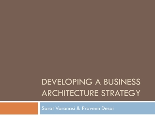 aligning business process architecture and enterprise architecture: