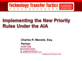 Implementing the New Priority Rules Under the AIA