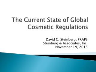 The Current State of Global Cosmetic Regulations