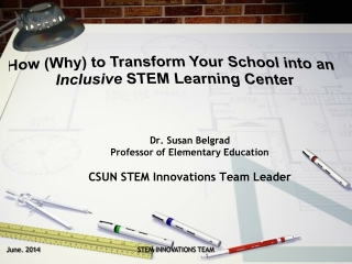 Dr. Susan  Belgrad Professor of Elementary Education CSUN STEM Innovations Team Leader