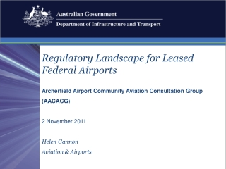 Regulatory Landscape for Leased Federal Airports