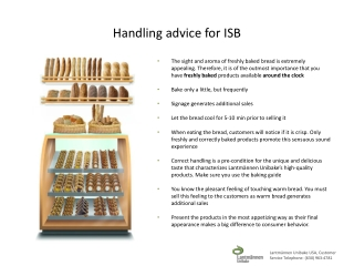 Handling advice for  ISB