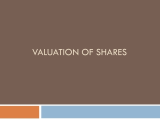 Valuation of shares