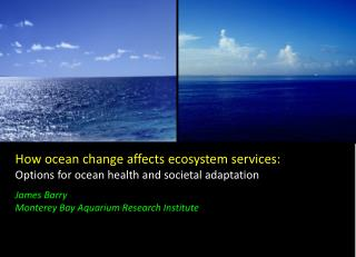 How ocean change affects ecosystem services: Options for ocean health and societal adaptation James  Barry Monterey Bay