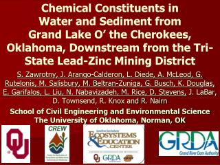 Chemical Constituents in  Water and Sediment from  Grand Lake O' the Cherokees, Oklahoma, Downstream from the Tri-State