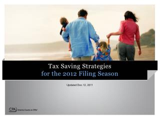 Tax Saving Strategies for the 2012 Filing Season