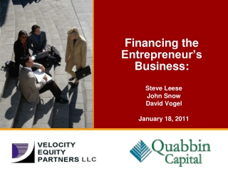 Financing the Entrepreneur's Business: