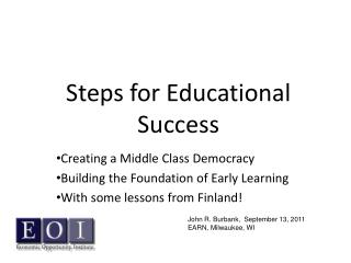 Steps for Educational Success