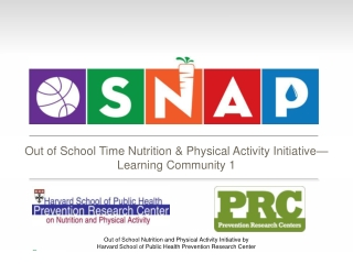 Out of School Time Nutrition & Physical Activity Initiative� Learning Community 1