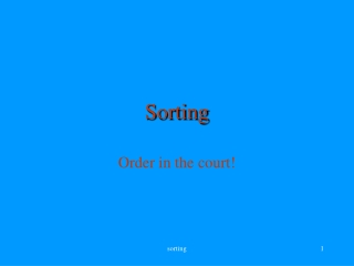 sorting an array: simple algorithms