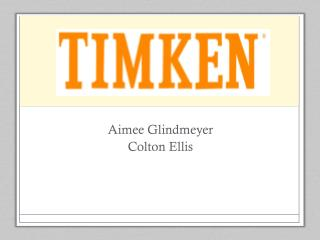 Aimee Glindmeyer Colton Ellis