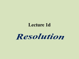 Lecture 1d