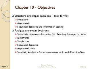Chapter 10 -  Objectives