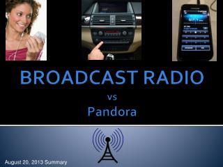 BROADCAST RADIO  vs Pandora