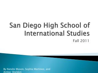 San Diego High School of International Studies