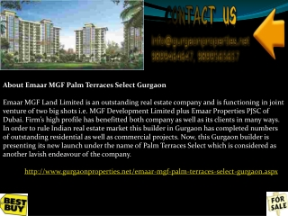 Emaar MGF Palm Terraces Select Gurgaon