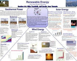 Renewable  Energy ~ Can Stop Global Warming ~