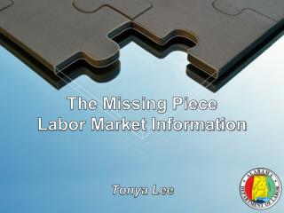 The Missing Piece Labor Market Information