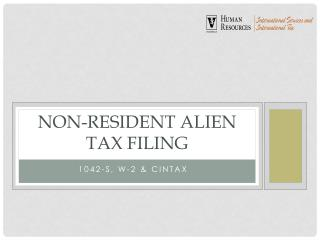 non-resident alien tax filing