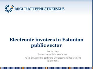 Electronic invoices in Estonian public sector