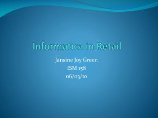 Informatica  in Retail