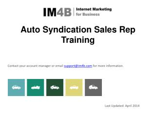 Auto Syndication  Sales  Rep Training