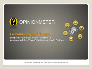 Customer Loyalty Research