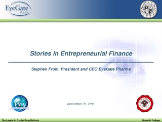 Stories in Entrepreneurial Finance