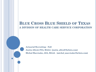 Blue Cross Blue Shield of Texas a division of health care service corporation