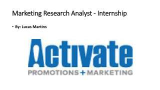Marketing Research Analyst - Internship