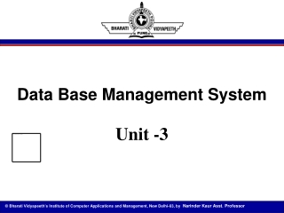 Unit 3 Distributed Database Management Systems