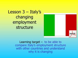 lesson 3   italy s changing employment structure