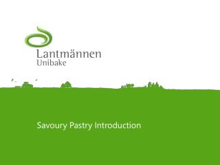 Savoury  Pastry Introduction