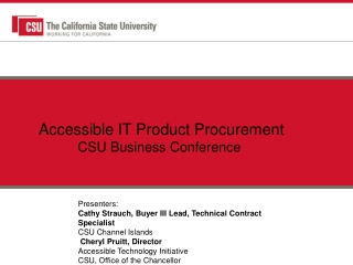 Accessible  IT Product  Procurement CSU Business Conference