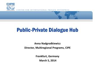 Public-Private Dialogue Hub