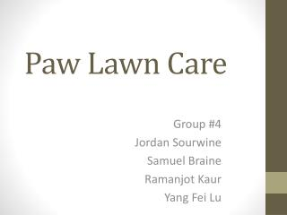Paw Lawn Care