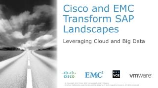 Cisco and EMC Transform SAP Landscapes