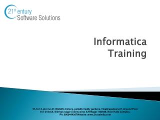 Informatica Training