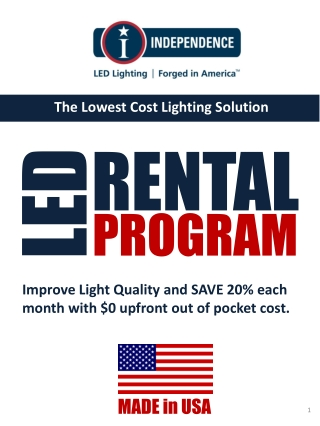 The Lowest Cost Lighting Solution