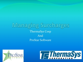 Managing Surcharges