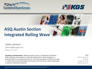 ASQ Austin Section Integrated  Rolling Wave