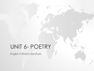 Unit 6- Poetry