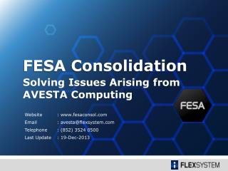 Solving Issues Arising from AVESTA Computing