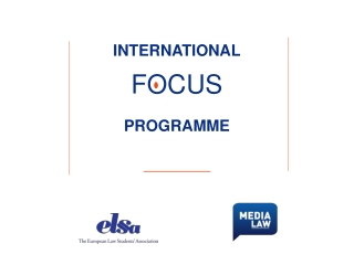INTERNATIONAL FOCUS PROGRAMME